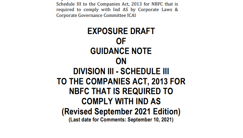 NBFCs that are required to comply with Ind AS Schedule III